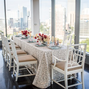 Patterned Silver Linens