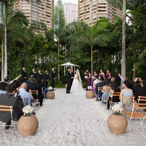 Sand-Lined Ceremony Space