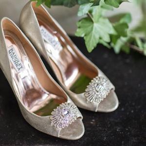 Embellished Peep-Toe Bridal Heels