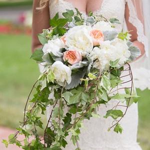Cascading White Bridal Bouquet