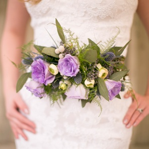 Purple Floral Bridal Belt