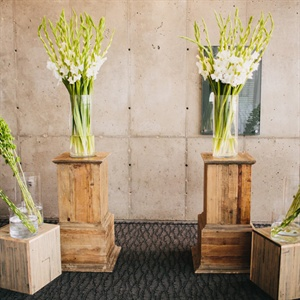 White Freesia Ceremony Altar