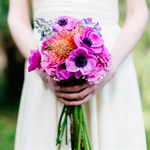 Anemone and Protea Bridal Bouquet