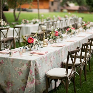Floral Tablecloth Print