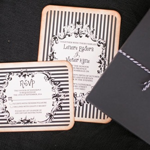 Black-and-White Striped Invitation
