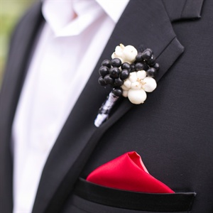 Black-and-White Boutonniere