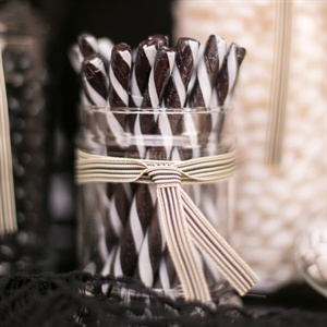Black-and-White Candy Buffet
