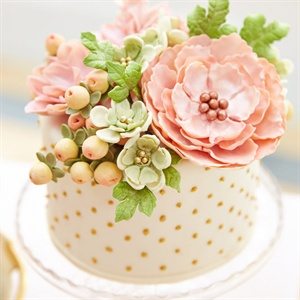 Single Tier Floral Cake