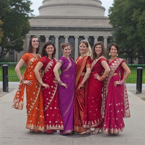 Traditional Red Saris