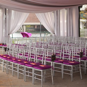 Purple Ceremony Seating