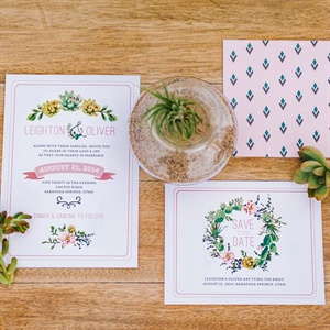 Succulent and Desert Flower Invitations