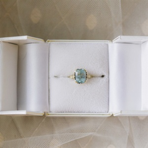 Unique Blue Stone Engagement Ring