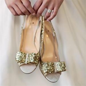 Sparkly Bow-Detail Shoes