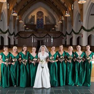 Formal, Floor-Length Bridesmaid Gowns