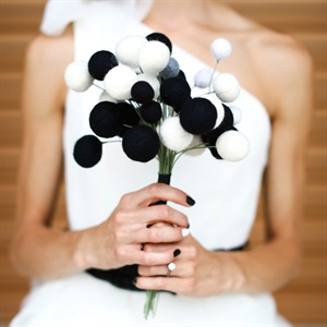 Felt Pom Pom Bridal Bouquet