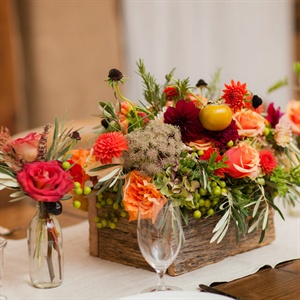 Autumnal Planter Box Centerpieces