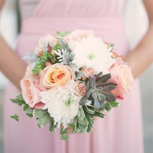 Rose, Mum and Succulent Bridesmaid Bouquets