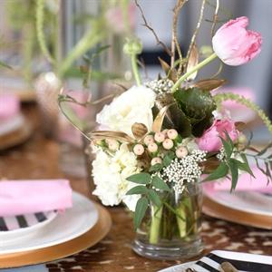 Pink Tulip Centerpieces
