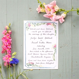 Floral Watercolor Invitations