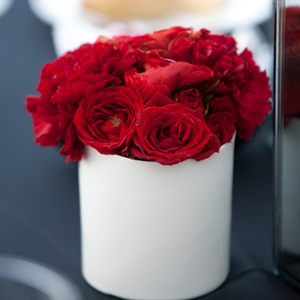Modern Red Rose Centerpieces