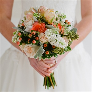 Coral Berry Bridal Bouquet