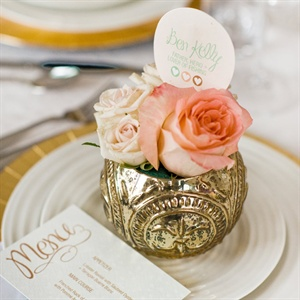 Small Floral Place Settings
