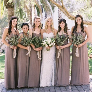 Brown Bridesmaid Look