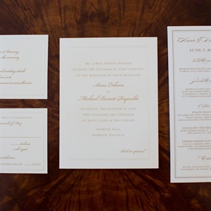 Formal Gold Invitation Suite