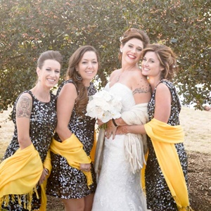 Metallic Sequin Bridesmaid Look