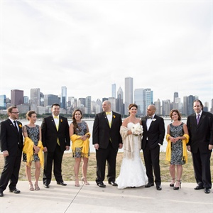 Black and Yellow Wedding Party