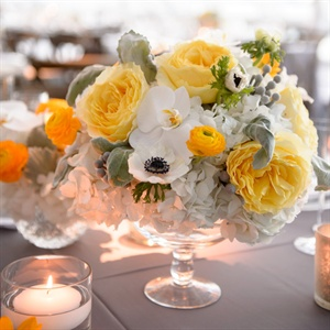 Anemone and Orchid Centerpieces