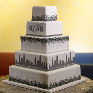 Chicago Cityscape Wedding Cake