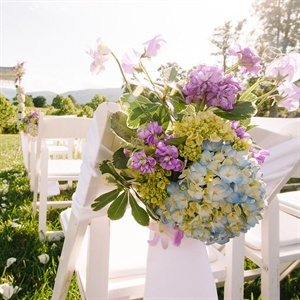 Blue and Purple Aisle Markers