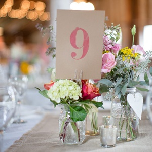 Mason Jar Table Numbers