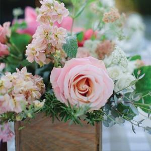 Pink Rose Centerpieces