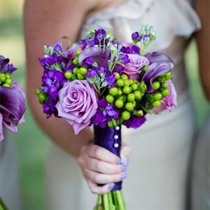 Purple Bridesmaid Bouquet