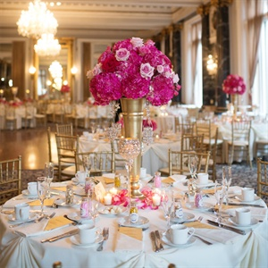 Tall Pink Centerpieces