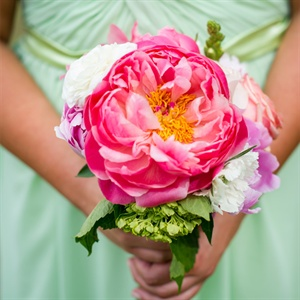 Pink Peony Bridesmaids Bouquets