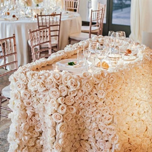 Rose Covered Sweetheart Table