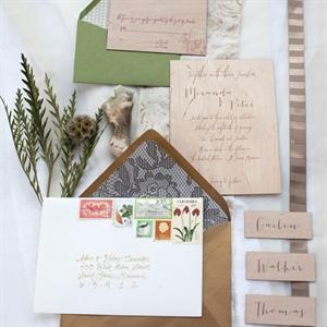 Woodgrain Wedding Invitations