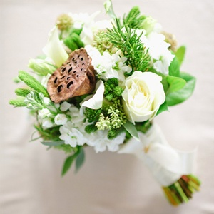 Lotus Pod Bridal Bouquet