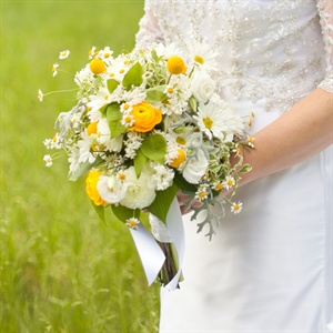 Ranunculus and Wildflower Bridal Bouquet