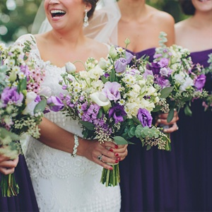 Purple Ceremony Bouquets