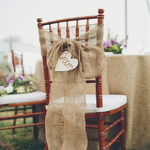 Burlap Groom's Chair