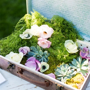 Vintage Suitcase Floral Arrangements