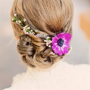Flower Accented Bridal Updo