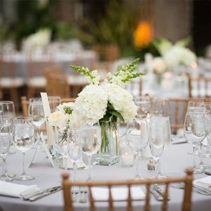 Simple Ivory Centerpieces