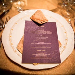 Formal Purple Menu Cards