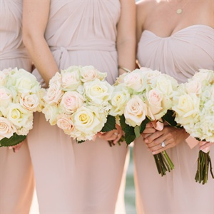 White Rose Bridesmaid Bouquets