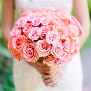 Coral Rose Bridal Bouquet